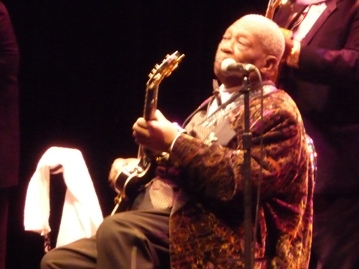 The King of the Blues, BB King. Photo taken by Steve Yanko