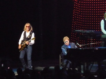 Davey Johnstone and Elton John. Photo taken by Steve Yanko.