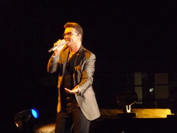 George Michael. Performing all of his hits. Melbourne, Australia. Photo taken by Steve Yanko.