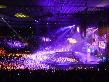 Lady Gaga's Melbourne audience. Photo taken by Steve Yanko.